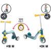 Smoby 750612 2 az 1-ben gyerek roller és bébitaxi