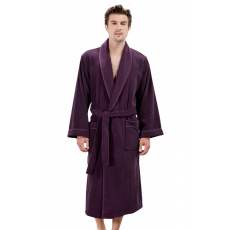Soft Cotton LORD férfi fürdőköpeny XL Sötét lila / Dark purple