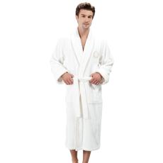 Soft Cotton SEHZADE férfi fürdőköpeny M Vaj szín - arany hímzés / Ecru -gold embroidery