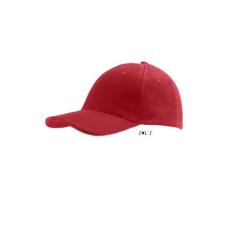 SOL'S Buffaló baseballsapka, 6 paneles, U, piros
