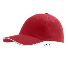 SOL'S Buffaló baseballsapka, 6 paneles, U, piros/fehér