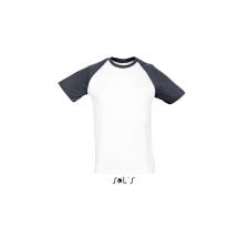 SOL'S SO11190 White/Black férfi póló