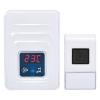 SOLIGHT Vezetéknélküli ajtócsengő hőmérővel, IP44, konnektoros, 120m, fehér