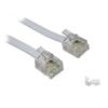 Somogyi USE T 5-10/WH 10m 6P4C d-d fehér telefon vezeték