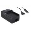Sony akkutöltő NP-QM51,QM71,QM91,F550,F750,F960, FM500, FM500H akkutöltő tápkábellel és szivargyújtós csatlakozóval