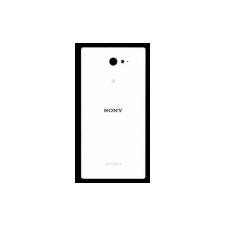 Sony D2302, D2303, D2305, D2306 Xperia M2 akkufedél NFC antennával fehér* mobiltelefon előlap