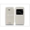 Sony Sony Xperia E4G (E2003) S-View Flexi oldalra nyíló flipes tok - fehér