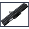 Sony VAIO VGN-CS16T/T 4400 mAh 6 cella fekete notebook/laptop akku/akkumulátor utángyártott