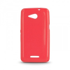 Sony Xperia E4g, TPU szilikon tok, ultravékony, csillámporos, piros