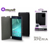 Sony Xperia T3 (D5103) flipes tok - Made for Xperia Muvit Ultra Slim Folio - black