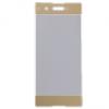Sony Xperia XA1, Kijelzővédő fólia, ütésálló fólia (az íves részre is!), Tempered Glass (edzett üveg), arany
