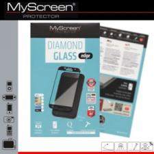 Sony Xperia XZ, Kijelzővédő fólia, ütésálló fólia (az íves részre is!), MyScreen Protector, Diamond Glass (Edzett gyémántüveg), szürke mobiltelefon előlap