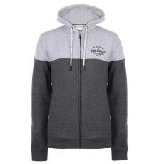 SoulCal férfi cipzáras pulóver - SoulCal Contrasting Zip Hoody Mens GreyMCharcoal