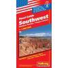 Southwest (a Sziklás-hegység déli része) autótérkép - Hallwag No.6