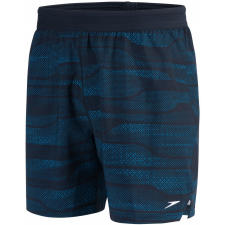 "Speedo Lane Printed 16"" Watershort Black/Windsor Blue M férfi fürdőnadrág"