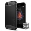 Spigen iPhone 5/5s/SE Rugged Armor tok - fekete