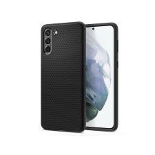 Spigen Samsung G996F Galaxy S21+ ütésálló hátlap - Spigen Liquid Air - fekete tok és táska