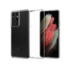 Spigen Samsung G998F Galaxy S21 Ultra ütésálló hátlap - Spigen Liquid Crystal - átlátszó tok és táska