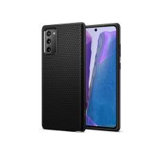 Spigen Samsung N980F Galaxy Note 20 ütésálló hátlap - Spigen Liquid Air - fekete tok és táska