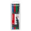 """STABILO Alkoholos marker készlet, 0,4 mm, STABILO """"OHPen S"""", 4 különböző szín"""