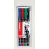 """STABILO Alkoholos marker készlet, 0,7 mm, STABILO """"OHPen F"""", 4 különböző szín"""