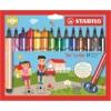 """STABILO Filctoll készlet, 1,5-2 mm, rugós hegy, STABILO \""""Trio Scribbi\"""", 14 különböző szín [14 db]"""