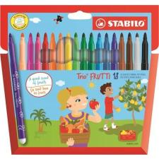 """STABILO Filctoll készlet, illatos, STABILO """"Trio Frutti"""", 18 különböző szín filctoll, marker"""