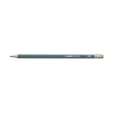 STABILO Grafitceruza STABILO Pencil 160 HB hatszögletű radíros olajzöld ceruza