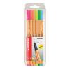 """STABILO """"Point 88"""" 0,4 mm 6 neon szín tűfilc készlet"""