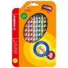 STABILO Színes ceruza készlet, háromszögletű, jobbkezes, STABILO  EasyColours , 12 különböző szín