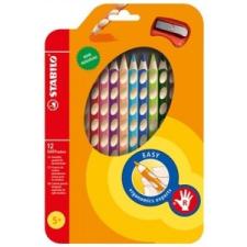 STABILO Színes ceruza készlet, háromszögletű, jobbkezes, STABILO  EasyColours , 12 különböző szín színes ceruza