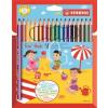 """STABILO Színes ceruza készlet, háromszögletű, vastag, STABILO """"Trio"""", 18 különböző szín"""