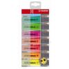 STABILO Szövegkiemelő készlet, 2-5 mm, STABILO Boss, 8 különböző szín (TST708)
