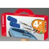 """STABILO Táblamarker készlet, 2,5-3,5 mm, kúpos, szivaccsal,  """"Plan"""", 4 különböző szín"""
