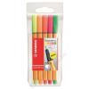 STABILO Tűfilc készlet, 0,4 mm, STABILO Point 88 Mini Neon, 5 különböző szín (TST688051)