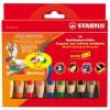 STABILO Woody színes ceruza készlet, kerek, vastag, 10 különböző szín