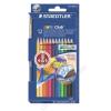 STAEDTLER Akvarell ceruza készlet, ecsettel, STAEDTLER Noris Club, 12 különböző szín (TS14410NC12)