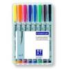 """STAEDTLER Alkoholmentes marker készlet, OHP, 0,4 mm, STAEDTLER \""""Lumocolor 311 S\"""", 8 különböző szín [8 db]"""