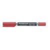 """STAEDTLER Alkoholos marker, F/M, 0,6/1,5 mm, kúpos, kétvégû, STAEDTLER """"Lumocolor Duo"""", piros"""