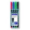 """STAEDTLER Alkoholos marker készlet, OHP, 0,4 mm, STAEDTLER \""""Lumocolor 313 S\"""", 4 különböző szín [4 db]"""