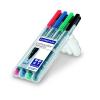 """STAEDTLER Alkoholos marker készlet, OHP, 0,6 mm,  """"Lumocolor 318 F"""", 4 különböző szín"""