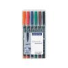 """STAEDTLER Alkoholos marker készlet, OHP, 1 mm,  """"Lumocolor 317 M"""", 6 különböző szín"""