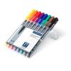 """STAEDTLER Alkoholos marker készlet, OHP, 1 mm,  """"Lumocolor 317 M"""", 8 különböző szín"""