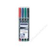 STAEDTLER Alkoholos marker készlet, OHP, 1 mm, STAEDTLER 317 M, 4 különböző szín (TS317WP4)