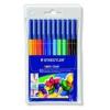 """STAEDTLER Filctoll készlet, 1 mm, kimosható, STAEDTLER \""""Noris Club\"""", 10 különböző szín [10 db]"""