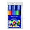 STAEDTLER Filctoll készlet, 1 mm, kimosható, STAEDTLER Noris Club, 10 különböző szín (TS326WP10)