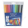 STAEDTLER Filctoll készlet, 1 mm, kimosható, STAEDTLER Noris Club, 12 különböző szín (TS325WP12)