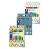 """STAEDTLER Filctoll készlet, 1 mm, kimosható, vegyes mintájú csomagolás, STAEDTLER """"Pattern Mix"""", 12 különböző szín"""