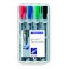 """STAEDTLER Flipchart marker készlet, 2-5 mm, vágott, STAEDTLER \""""Lumocolor 356 B\"""", 4 különböző szín [4 db]"""