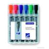 """STAEDTLER Flipchart marker készlet, 2-5 mm, vágott, STAEDTLER """"Lumocolor 356 B"""", 6 különböző szín"""